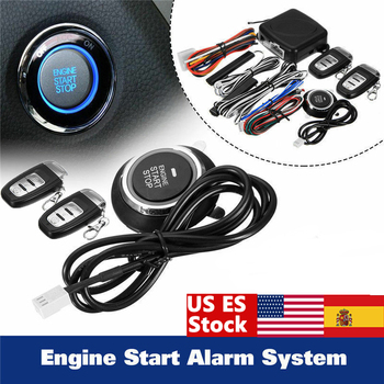 9Pc diy Car SUV Keyless Entry Engine Start Keyless Alarm System Push Button Remote Starter Stop Automobiles Auto Car Accessories 9pcs car suv keyless entry engine start alarm system push button remote starter stop auto