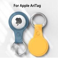 Funda de silicona blanda colorida para Apple Airtags, funda protectora, hebilla de anillo de Metal, carcasa de plástico suave para deportes, novedad de 2021