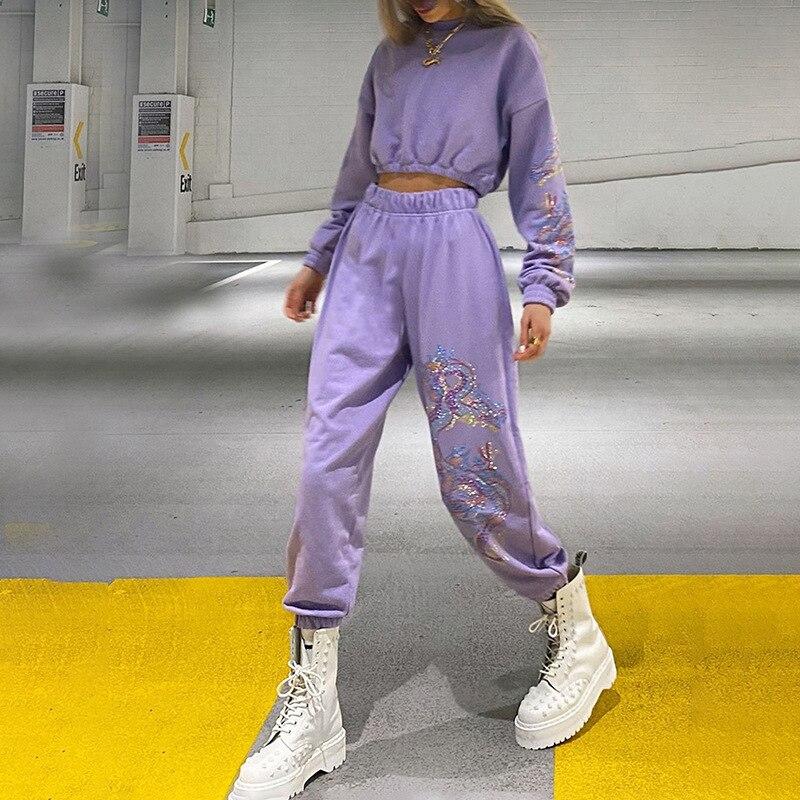NCLAGEN Women Pants Dragon Printed Streetwear Loose Casual Trousers Joggers Woman Pant 2020 High Waist Baggy Pattern Trouser
