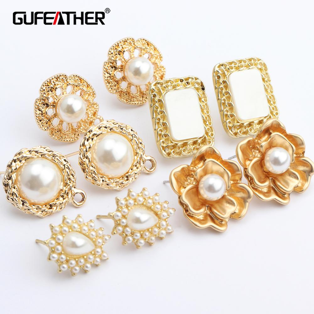 GUFEATHER M448,jewelry Accessories,pearl,diy Pendant,copper Metal,hand Made,diy Earring,jewelry Making,stud Earring,10pcs/lot