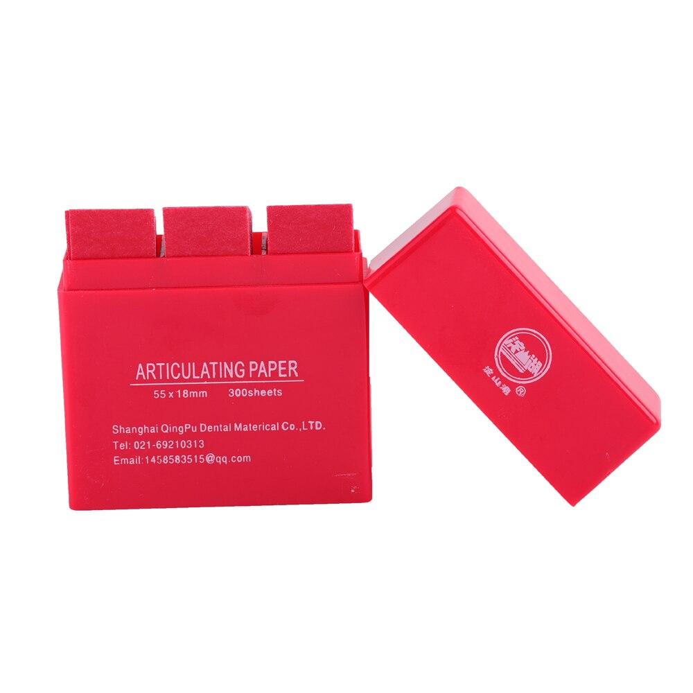 300 лист/коробка Стоматологические артикуляционные бумажные полоски стоматологический лабораторный продукт Инструмент Уход за зубами отбеливающий материал синий/красный стоматологический интрумен