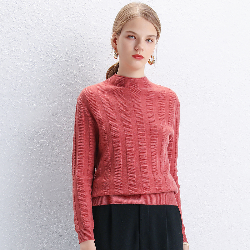 Smpevrg automne hiver pure laine pull femme pull à manches longues et demi-col haut femmes pull top en tricot pull femme pull