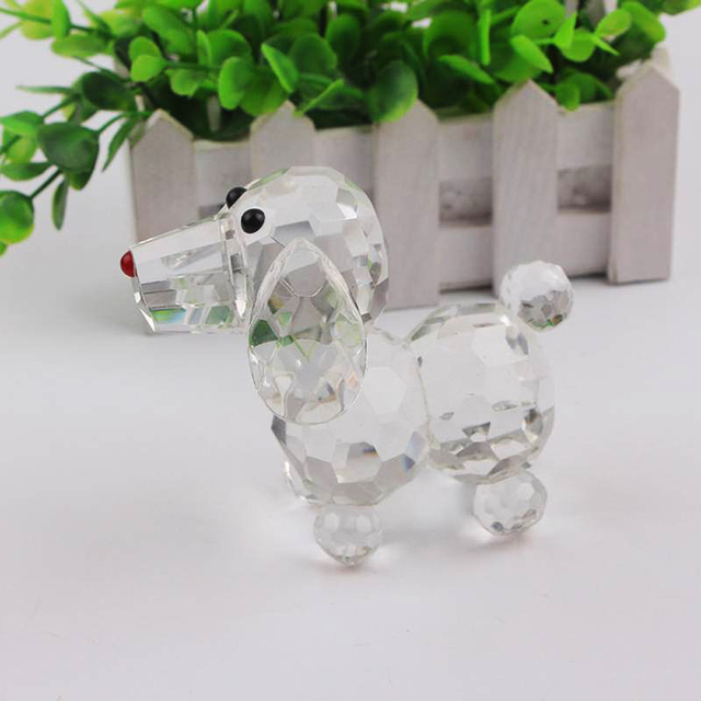 Cute Crystal Dog Figurine Collection Glass Ornament Statue Animal Gift for Home Decor Accessories 5