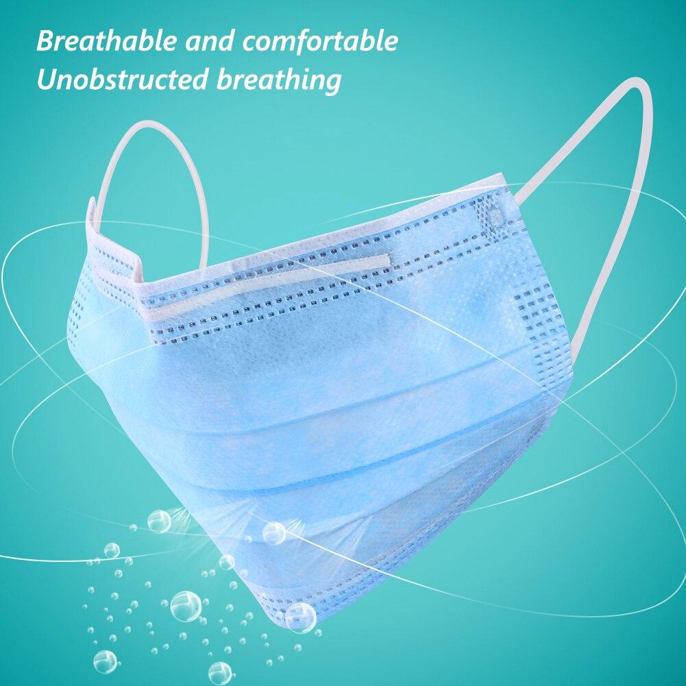 マスク 10/20pc 마스크 Disposable Face Mask Prevent Droplet 3-Layer Anti-polluction Dustproof Earloop Mask Portective Mask