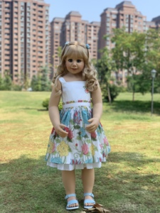 Image 1 - 100CM Hard vinyl toddler princess girl doll toy like real 3 year old size child clothing photo model big dress up doll baby gift