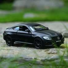 Игрушки для мальчиков, изысканная имитация литой и игрушечной машины RMZ city, Стайлинг автомобиля C63 S AMG Coupe 1:36, модель из сплава, тяговые автомо...
