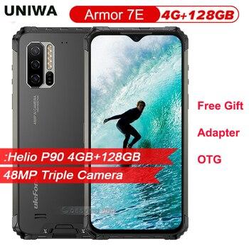 Перейти на Алиэкспресс и купить Мобильный телефон Ulefone Armor 7E, прочный IP68, 6,3 дюйма, Восьмиядерный Helio P90, 4 Гб 128 ГБ, смартфон на базе Android 9,0, мобильный телефон 5500 мАч, глобальная ...