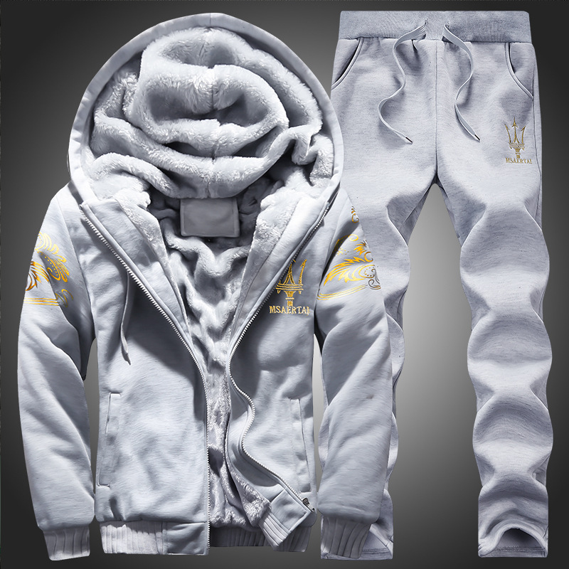 Hoodie Sweatshirt Men/Women 2019 Coat Fleece Hoodies Sweatshirts+Sweatpants Suit Autumn Winter Warm Logo Printed Hooded Pullover