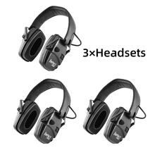 Electronic shooting earmuffs anti-noise shockproof sound amplification tactical hunting hearing protection headphone foldable BK