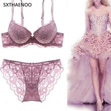 SXTHAENOO Bra Set Sexy Secret Secret Lace Lingerie Set Underwire Gather