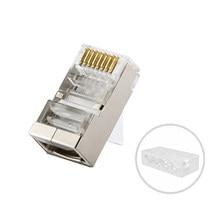 (50 sztuk/paczka) sieci 10GB RJ45 Cat.6a modułowe ekranowany wtyczki-w zestawie przewody ładowanie wkładek, bar dla Cat.6/Cat.6a kable