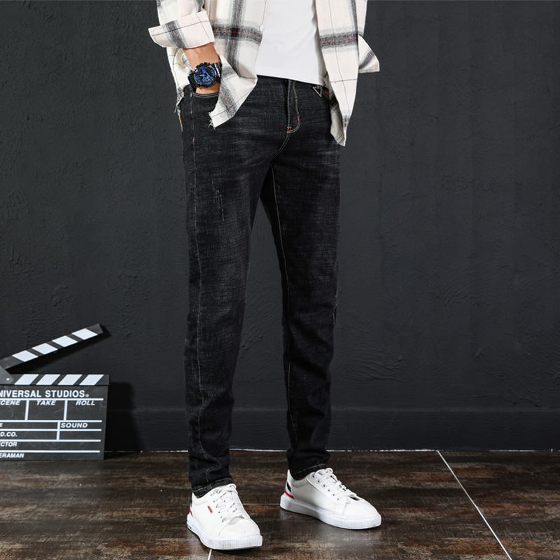 UYUK2019 Autumn/winter New Slim Versatile Trend Casual Fashion Korean Men Jeans Hombre Homme Trousers Clothes Streetwear