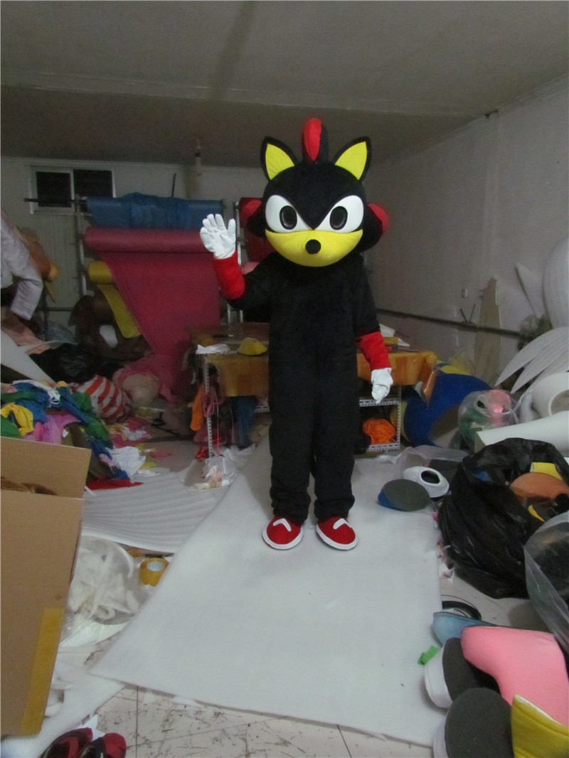New Version Black Sonic Hedgehog Mascot Costume Adult Birthday Party Fancy Dress Halloween Cosplay Outfits Clothing Xmas