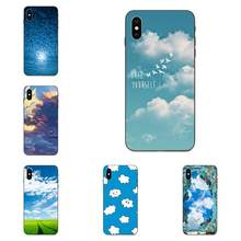 Simple Cool Clouds On Blue Sky TPU Case Mobile For Xiaomi Redmi Note 2 3 4 4A 4X 5 5A 6 6A 7 Go Plus Pro S2 Y2(China)
