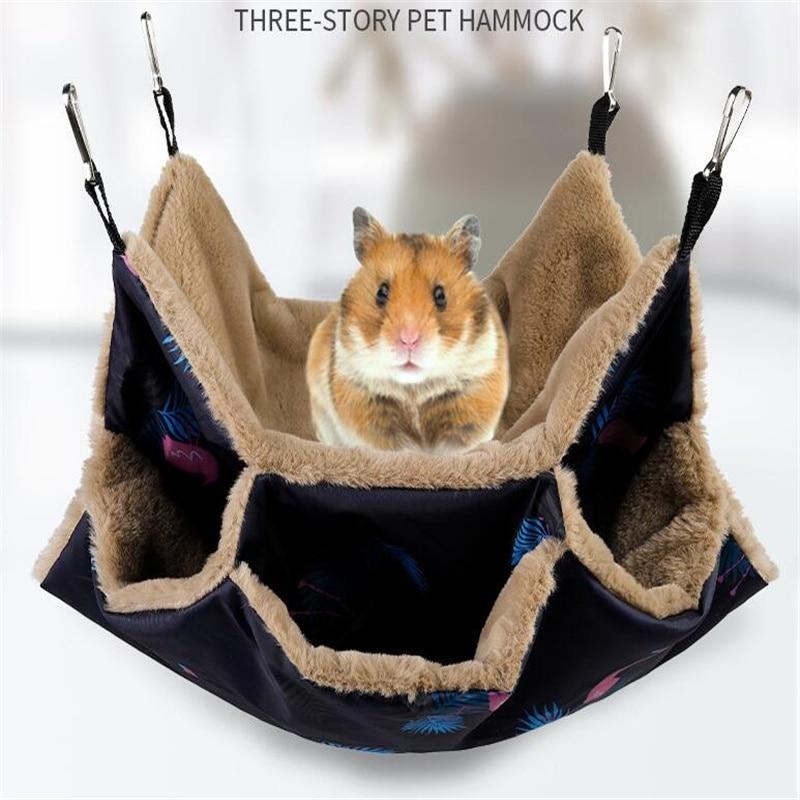 Hammock for Rat Hamster Ferret Rodent Cage Guinea Pig Rabbit House Squirrel Hedgehog Chinchilla Sugar Glider Small Pet Accessory