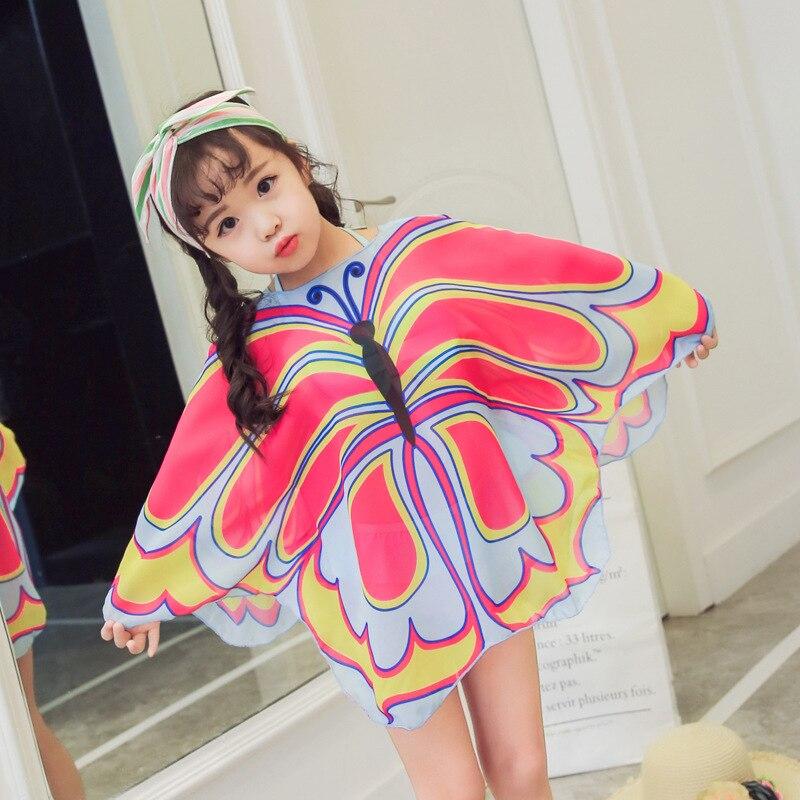 New Style KID'S Swimwear One-piece Girls Swimwear GIRL'S Cute Butterfly Blouse Swimwear Baby Bikini