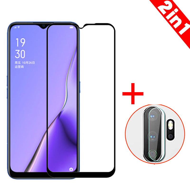 2-in-1 Camera Glass + Screen Tempered Glass For OPPO A9 2020 Screen Protector Glass On title=