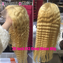 613 Blonde Glueless Lace Front Human Hair Wigs Brazilian Loose Deep Wave 150 Density 13x1 Lace Front Wig Remy Human Hair Wigs