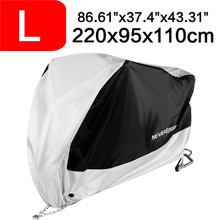 220x95x110cm Black Silver 190T Waterproof Rain Dust UV Outdoor Indoor Motorcycle Cover Coat For DDD 200x90x100cm black silver 190t waterproof motorcycle covers outdoor indoor motorbike scooter motor rain uv dust protective cover
