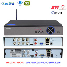 AHD 5MP CCTV Wifi DVR NVR H.265 4CH 8CH P2P Xmeye chmura wideorejestrator nadzór domowy bezpieczeństwo CCTV ONVIF dla kamery IP AHD