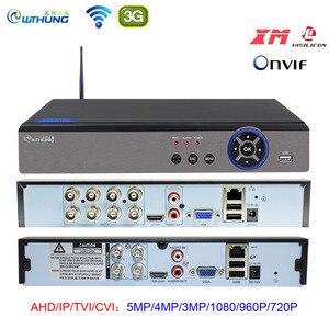 Image 1 - AHD 5MP CCTV Wifi DVR NVR H.265 4CH 8CH P2P Xmeye chmura wideorejestrator nadzór domowy bezpieczeństwo CCTV ONVIF dla kamery IP AHD
