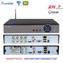 AHD 5MP CCTV Wifi DVR NVR H.265 4CH 8CH P2P Xmeye ענן וידאו מקליט בית מעקבים אבטחת CCTV ONVIF עבור AHD IP מצלמה