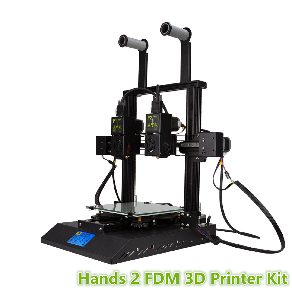 Hands 2 FDM 3D Printer Kit with 3.5 inch Colorful Screen Dual Extruder & Nozzle Powerful Mainboard/Modular Xaxis/Extrusion Motor