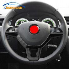 Xburstcar – couvercle de boutons de volant de voiture adapté à Skoda kodiaqavia A7 Rapid Yeti, superbes accessoires de style automobile