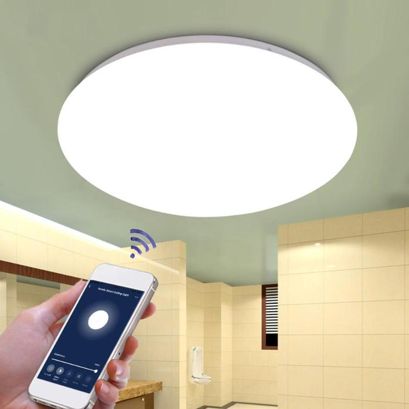 48W LED Dimming Ceiling Lamp Timing WiFi Remote Voice Control Surface Mount Living Room Memory Function Ceiling Light