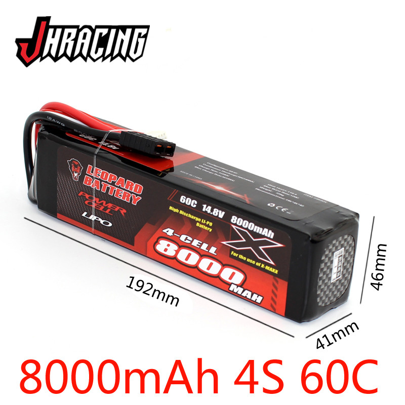 LEOPARD <font><b>8000MAH</b></font> 14.8V <font><b>4S</b></font> 60C high discharge <font><b>LIPO</b></font> battery for TRX X-MAXX image