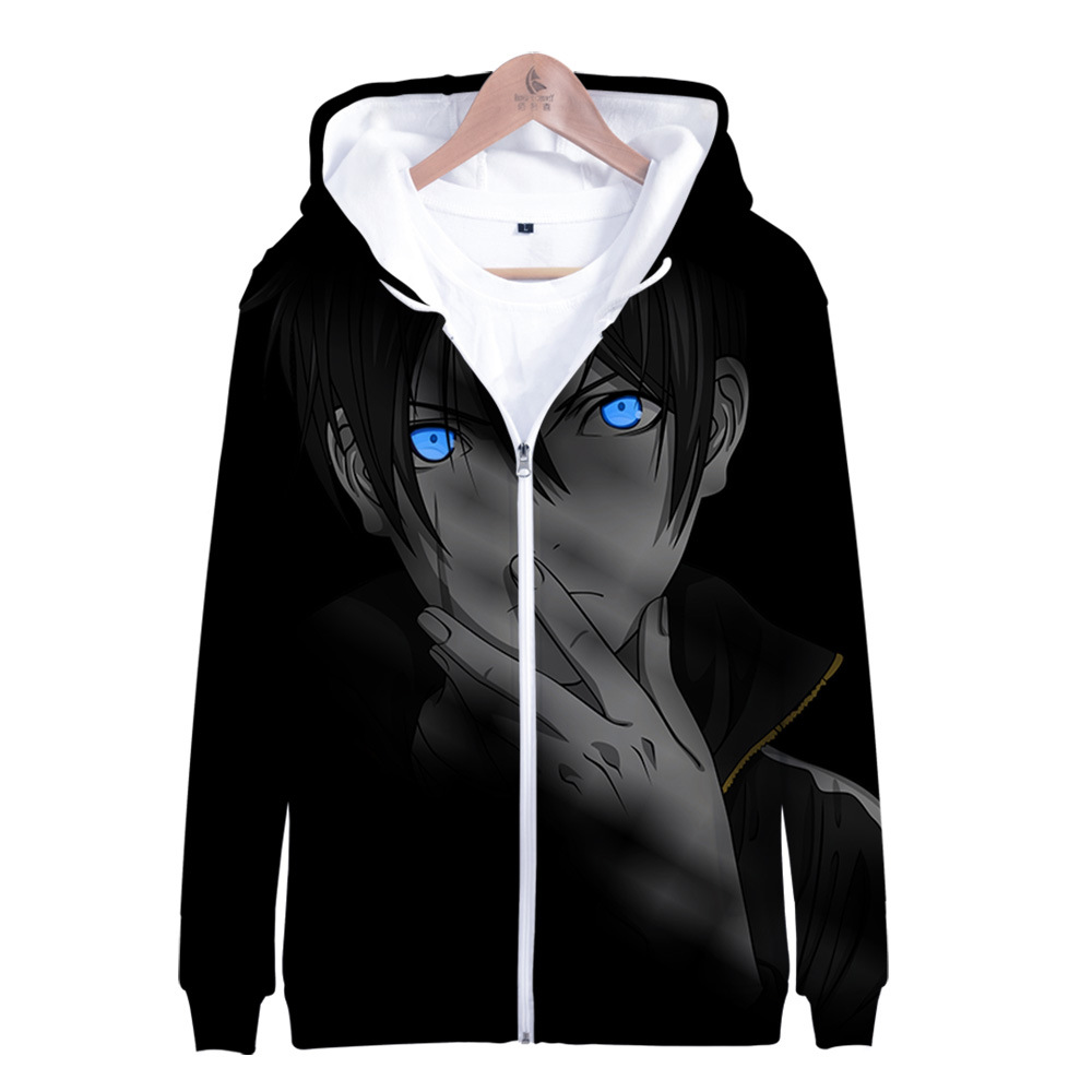 Anime Noragami Yato Hoodie Zip Up Hooded Sweatshirt Spring Hoddies Zipper Jacket Clothes for Men Women Kids Child Boy Girl 2020