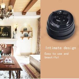 Image 5 - Home Improvement European Ceramic Switch Wall Knob Light Switch 10A Insulating Switch Black White