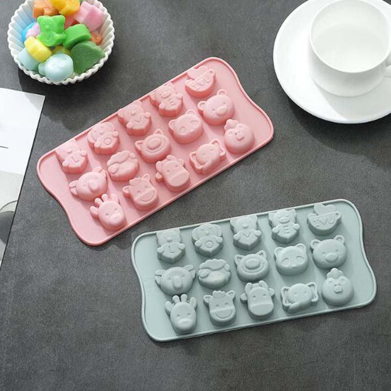 Cartoon Pig Silicone Ice Tray Mold Chocolate Mold Household DIY Baking Tools