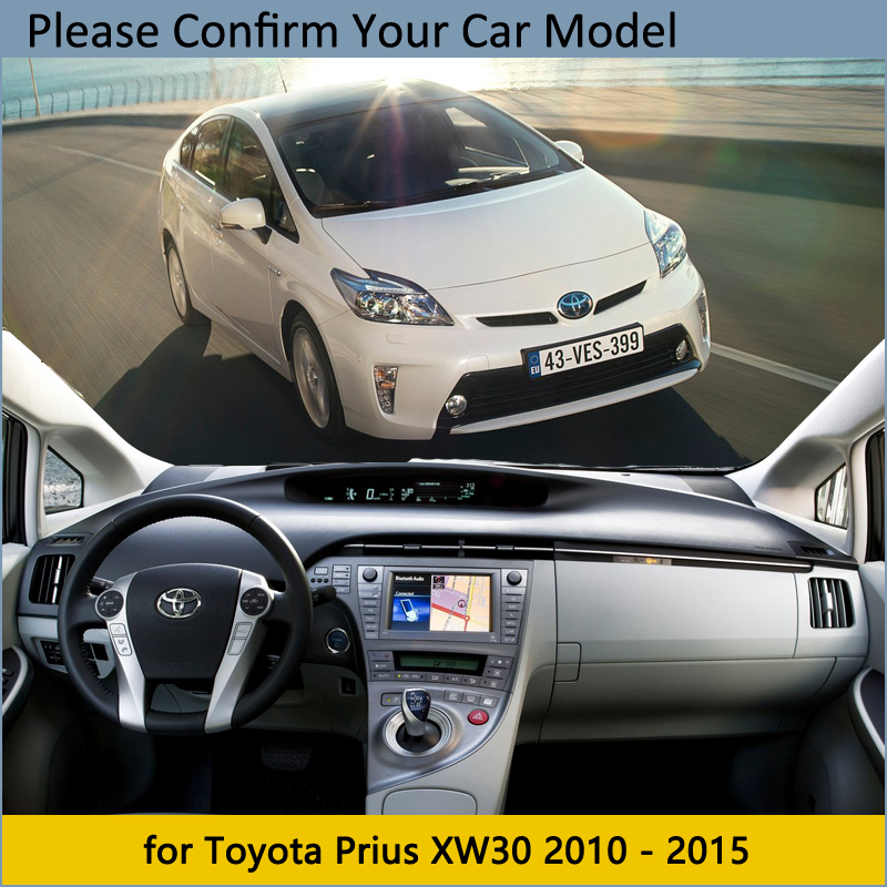 cheapest Dashboard Cover Protective Pad for Toyota Prius 30 2010 2015 XW30 Car Accessories Dash Board Sunshade Carpet 2011 2012 2013 2014