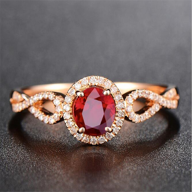 Ataullah Natural Red Ruby Rings 925 Silver 18k Rose Gold Plated Inlaid with 3A Zircon Gemstone Ring Fine Jewelry for Woman RW085 3