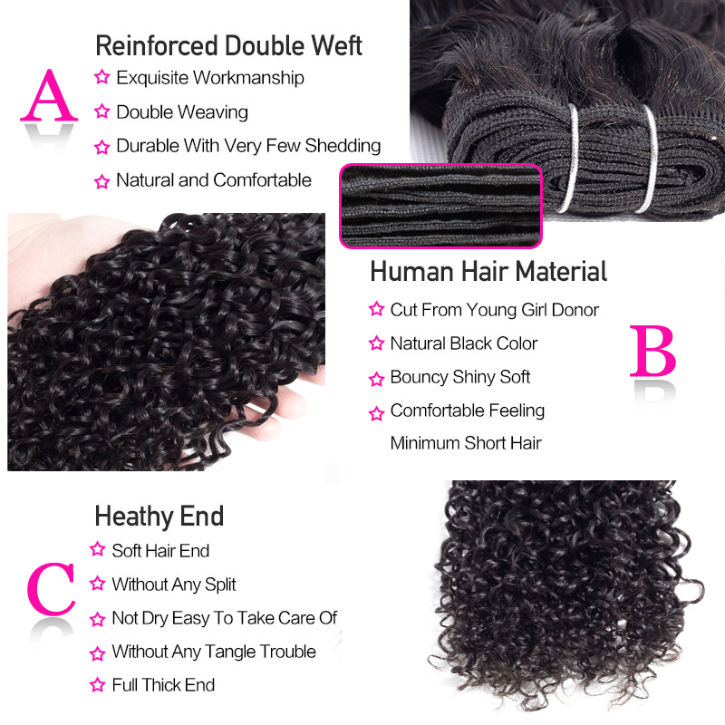 Funky Girl Brazilian Water Wave Human Hair 2 3 4 Bundles With Lace Frontal Closure With Funky Girl Brazilian Water Wave Human Hair 2/3/4 Bundles With Lace Frontal Closure With Bundles Ear To Ear Lace Frontal Non-Remy