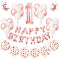 50 шт Розовое золото 1st Happy набор воздушных шаров на день рождения мой первый вечерние украшения, Детская рубашка для мальчика и девочки, я оди...