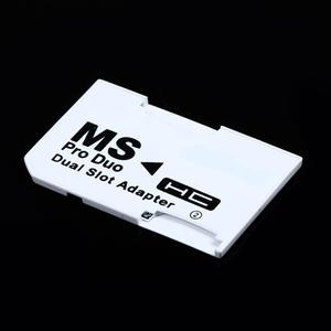 Image 3 - Micro slot dupla para sd sdhc tf, para cartão de memória vara ms pro, conjunto de adaptador de cartão duplo branco para cartão do psp
