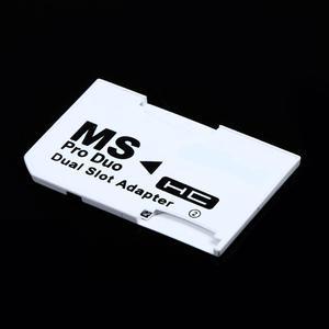 Image 3 - Podwójne gniazdo Micro do SD SDHC TF do pendrive MS Card Pro Duo czytnik dostosuj zestaw kart dwie karty białe do karty PSP białe