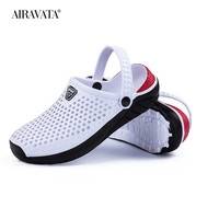 White-Unisex Summer Beach Sandals Slipper Flat Anti-Slip
