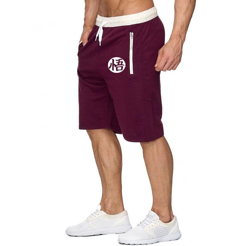 Summer 2020 Man's Shorts Casual Shorts Fashion Dragon Ball Goku Print Sweatpants Fitness Short Jogger Male Clothing