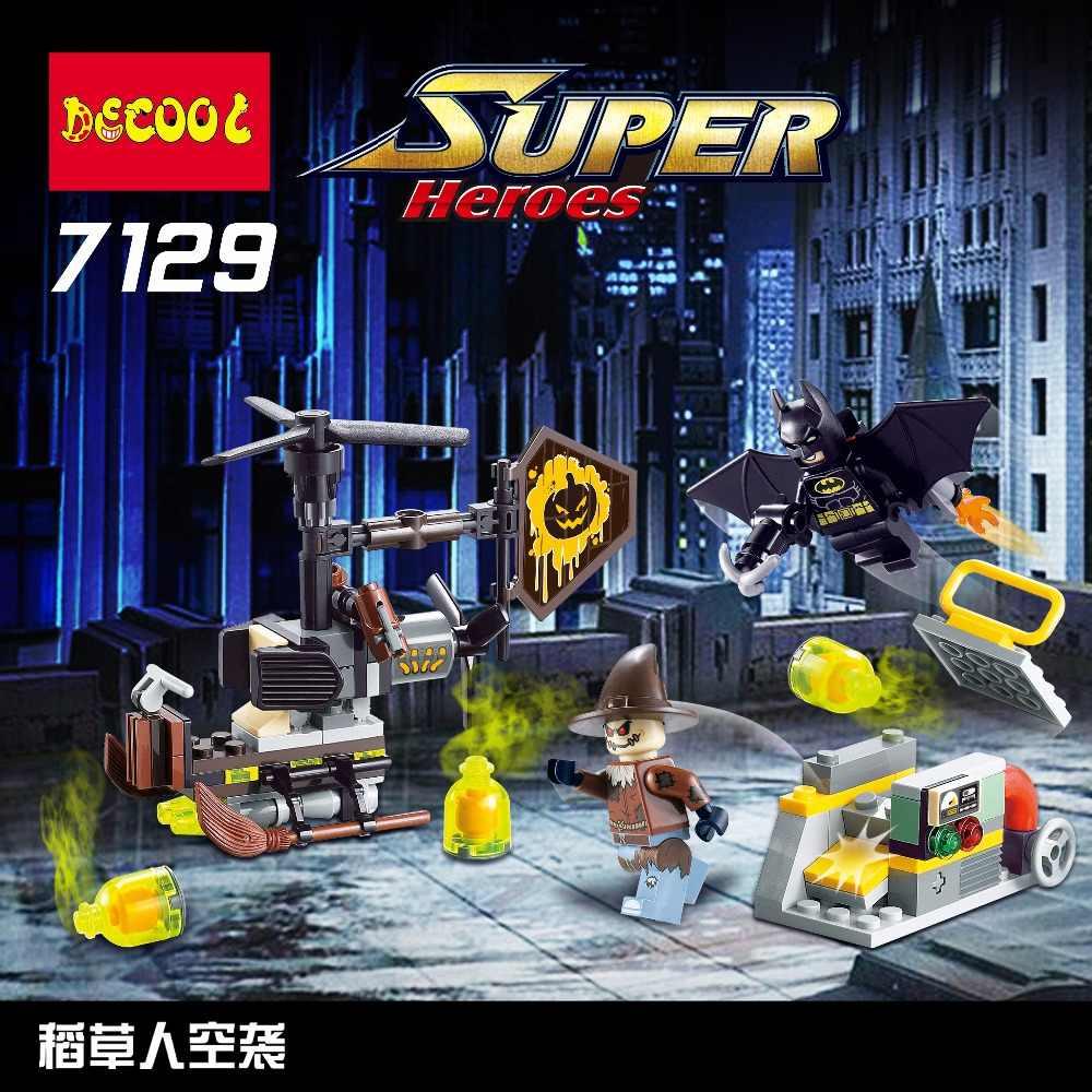Superbohaterowie 7129 141 sztuk Batman vs strach na wróble chłopiec dziewczyna przyjaciele klocki budowlane prezenty zabawki nadające się do filmu dla minifigure