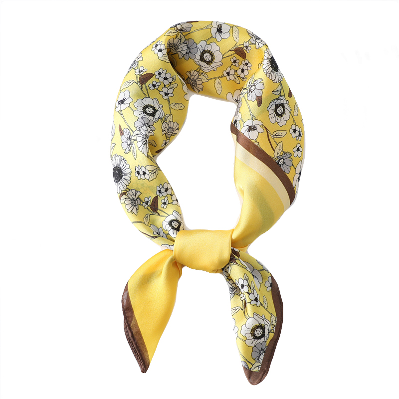 2020 New Women Fashion Small Neck Scarves Silk Scarf Square Hair Scarf Female Print Foulard  Bandana Office Lady Summer Shawl