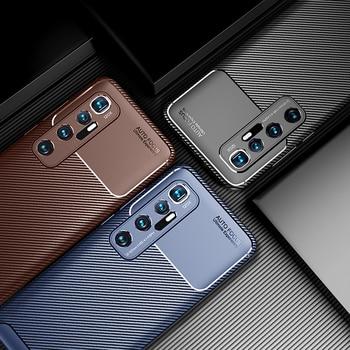 Cassa del telefono per Xiaomi Mi 10 Ultra Caso Della Copertura In Fibra di Carbonio Texture Morbida di TPU Del Silicone Antiurto Posteriore per il Caso di Xiaomi mi 10 Ultra