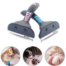 Pet cão gato escova de remoção de pêlos pente pet grooming ferramentas cini furmines cabelo derramamento trimmer pente para cães gatos
