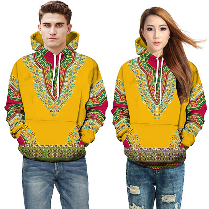 African Clothes Dashiki Print 2020 <font><b>News</b></font> Men Tribal Sweatshirts Hoodies Tops Fashion Autumn Women Full Sleeve Top Bazin Clothing image