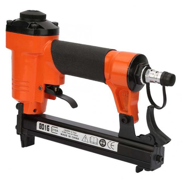 Pneumatic U Type Nail Gun 8016 Straight Nail Air Pneumatic Nailers Furniture Stapler Staple Gun 21GA 0.9*0.7mm Power Tool