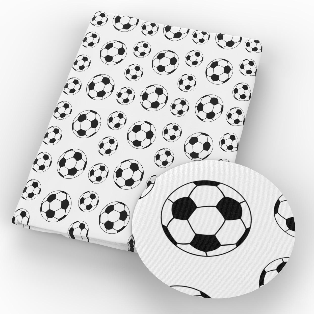 Лоскутная Ткань 50*145 см из 100% хлопка с принтом в виде футбольного мяча, ткань для детских рукоделия, шитье, квилтинг, материал четверти, c11060