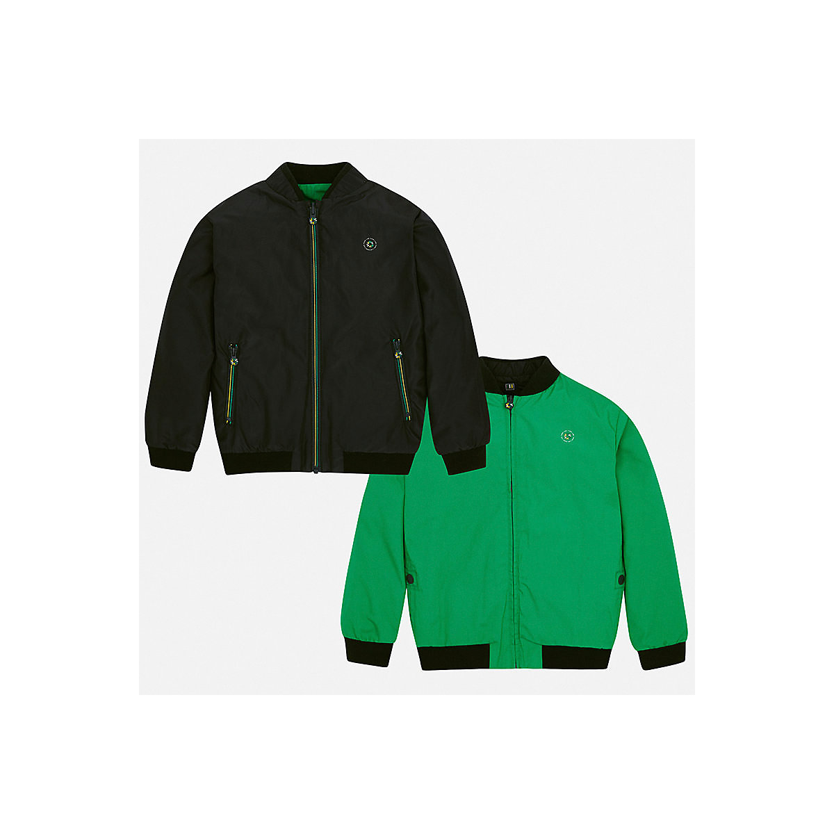 Фото - MAYORAL Jackets & Coats 10691276 Bomber windbreaker sweatshirt Boys Green girls jackets