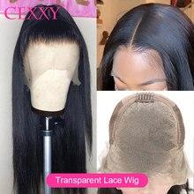 Perucas de cabelo humano frontal do laço 150% densidade peruano em linha reta remy perucas de cabelo para preto 13*4 glueless hd peruca de renda transparente